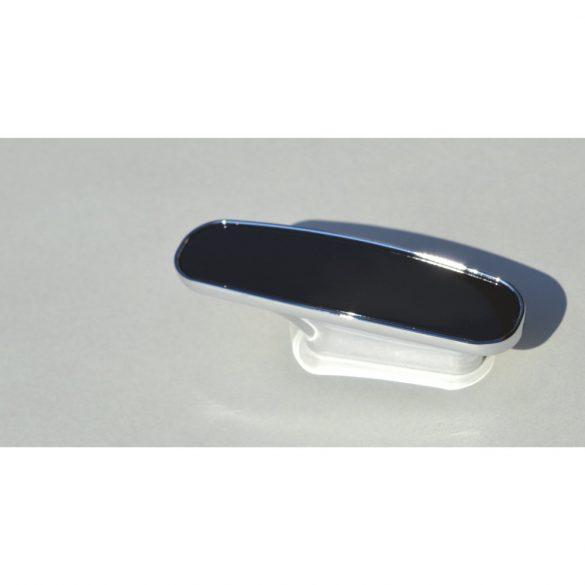 Metall-Kunststoff-Möbelgriff, chrom, schwarz, 32 mm Lochabstand