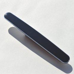 Fém-műanyag bútorfogantyú, króm-fekete, 96 mm furattáv, Retro