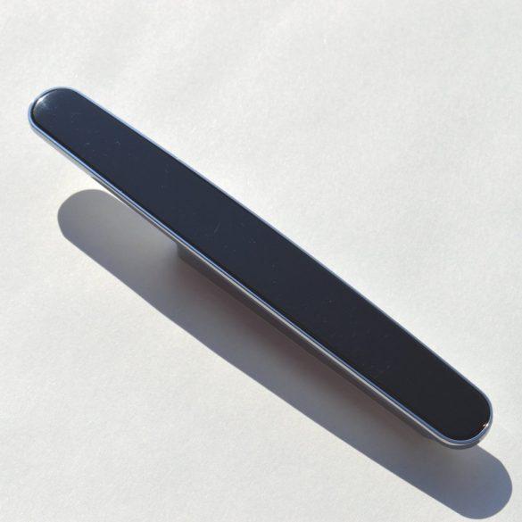 Möbelgriff Metall-Kunststoff-Kombination, Chrom glänzend - schwarz