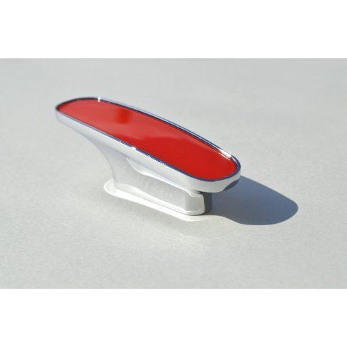Fém-műanyag bútorfogantyú, króm, piros, 32 mm furattáv