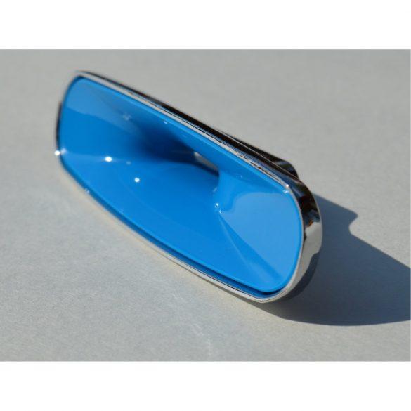 Metal-plastic furniture handle, chrome, blue, 32 mm hole spacing