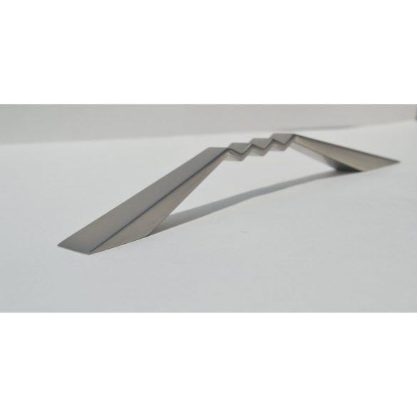 Metall-Möbelgriff, Farbe Elox Nickel, 128 mm Bohrungsabstand