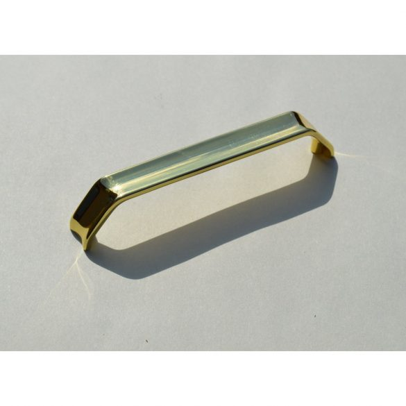 Fém bútorfogantyú, arany színű, 128 mm furattávval