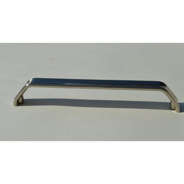 Fém bútorfogantyú, elox nikkel színű, 160 mm furattávval