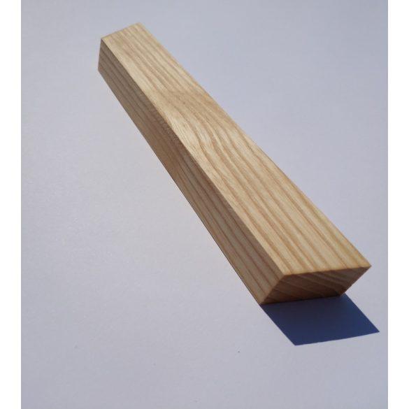 Tömörfa bútorfogantyú, olajozott kőris színű , 64 - 96 - 128 mm furattávval